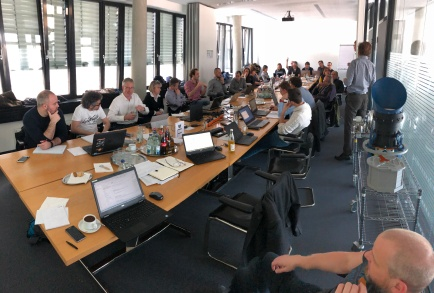 A working moment at the Camera AIV meeting in Munich 13-14 Feb 2018